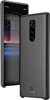 Sony Xperia 1 Dux Ducis Skin Lite Series leather cover anti-falling soft shell protective cover - Black