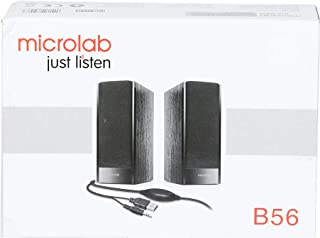 Microlab B56 3W Negro Altavoz - Altavoces (2.0 Canales, Alámbrico, 3,5 mm, 3 W, 100-18000 Hz, Negro)