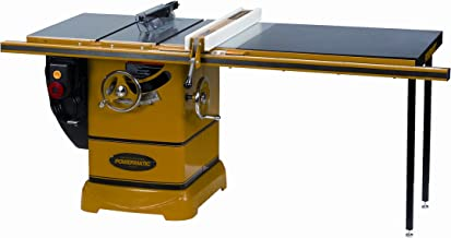 Powermatic 1792000K Model PM 2000 3 Horsepower Cabinet Saw with 50-Inch Accu-Fence, 2 Cast Iron Extension Wings, Table Board, and Legs, 230-Volt 1 Phase