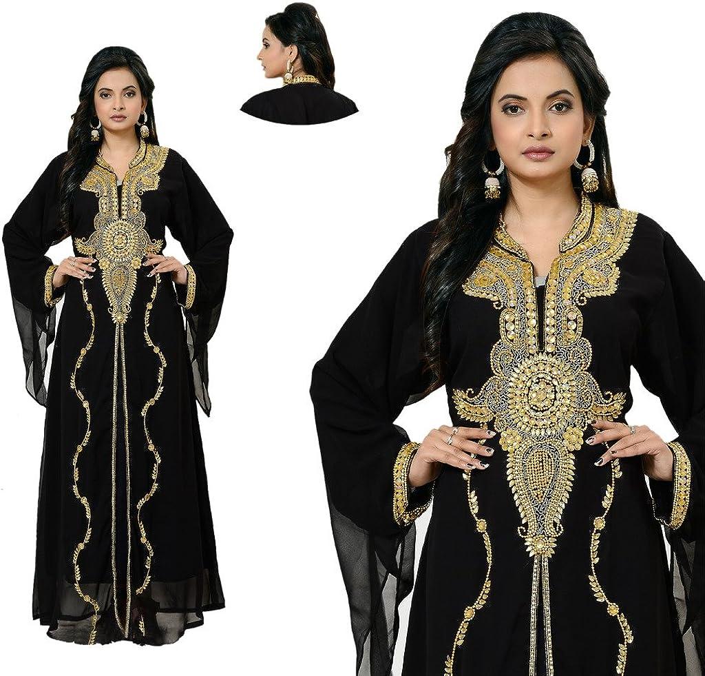 IndianAttire Women Wedding Farasha Kaftan Caftan Abaya Evening Party Suit Dress