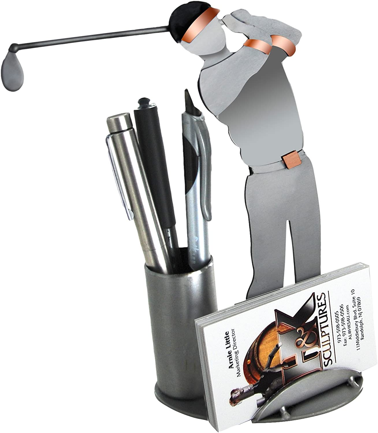 H K SCULPTURES 6686BC Golf New sales Driving Business Max 66% OFF Holder Card
