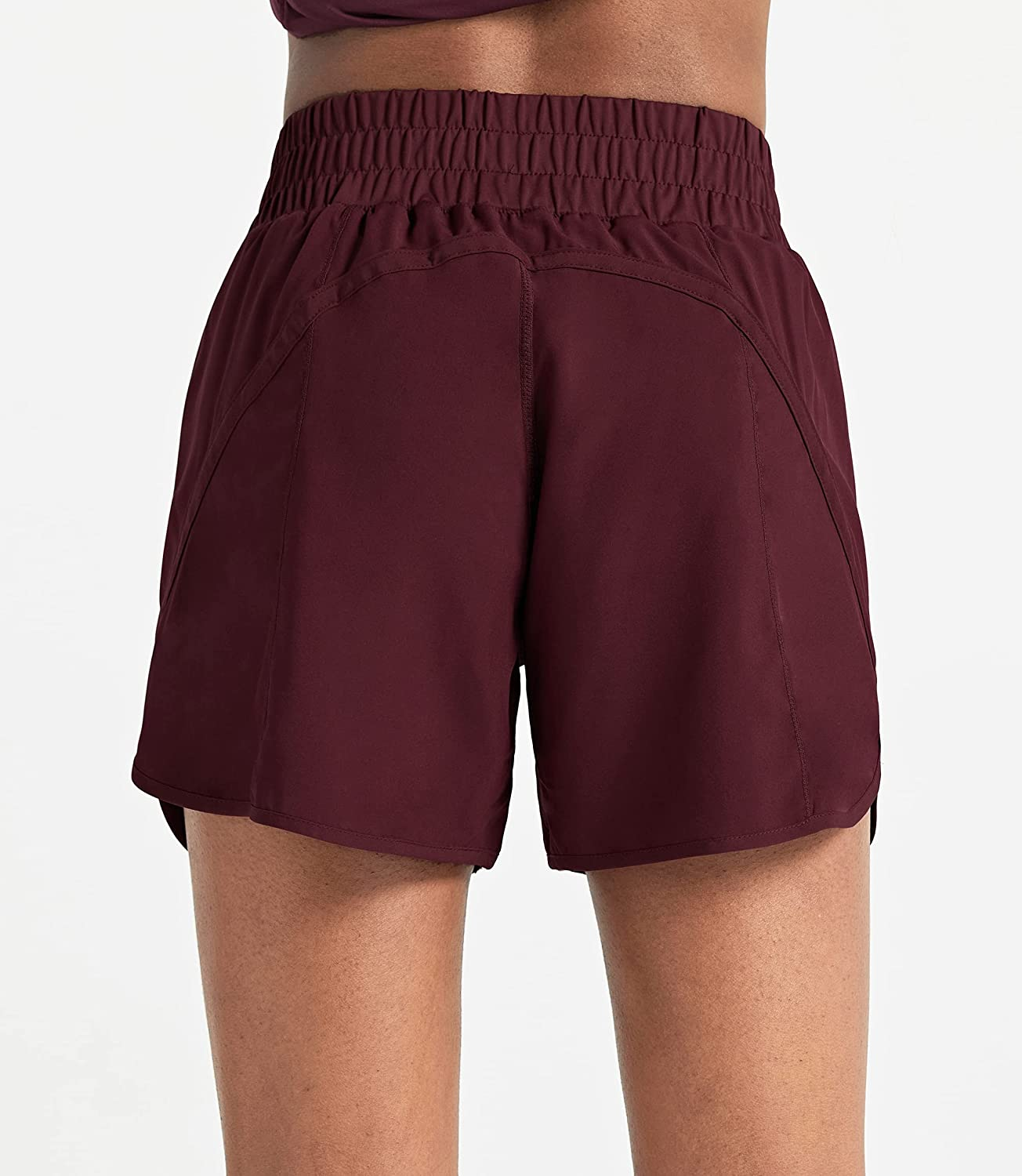 """ZUTY 5"""" Athletic Running Shorts for Women with Zip Pocket High Waisted Quick Dry Workout Gym Shorts with Liner: Clothing"""