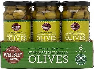 CASE OF 6 | Wellsley Farms Spanish Stuffed Manzanilla Olives, 8.3 oz.