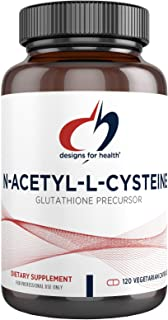Designs for Health N-Acetyl-L-Cysteine - 900mg NAC, Antioxidant Glutathione Precursor - Detox + Workout Recovery Support -...