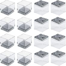 """Anwenk 1''x1"""" Square Chair Leg Floor Protectors with Felt Pads 1inch 1 in Square Table Leg Protectors Chair Leg Caps Small..."""