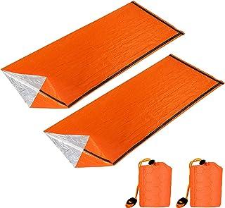 Jornarshar サバイバルシート エマージェンシーウ ヒートシート 非常時用寝袋 ブランケット セット 2枚 繰り返し使用可 アウトドアや防災に 軽量 防寒 保温 防水 遮熱
