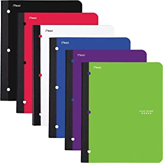 Five Star Bound Notebook with Pocket, 1 Subject, College Ruled Paper, 80 Sheets Pack of 1