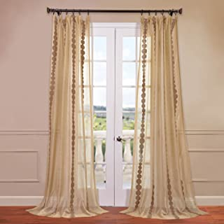 HPD Half Price Drapes SHCH-EMBOCS3595-108 Embroidered Sheer Curtain, 50 X 108, Cleopatra Gold
