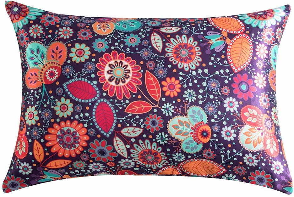 DuShow New York Mall Boho Satin Pillowcase Queen for Skin Hair Quee Oakland Mall and Floral