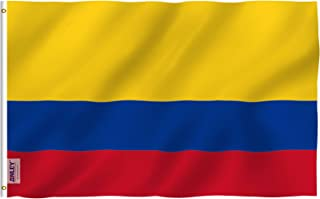 Anley Fly Breeze 3x5 Foot Colombia Flag - Vivid Color and UV Fade Resistant - Canvas Header and Double Stitched - Colombian National Flags Polyester with Brass Grommets 3 X 5 Ft