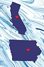 Long Distance Out of State Journal: California & Iowa (Two Souls One Heart US States Diary Notebook)