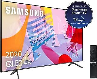 """Samsung QLED 4K 2020 50Q60T - Smart TV de 50"""" con Resolución 4K UHD, con Alexa integrada, Inteligencia Artificial 4K Wide Viewing Angle, Sonido Inteligente, One Remote Control"""
