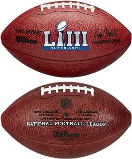 Wilson NFL Super Bowl LIII (53) Official Football New England Patriots vs Los Angeles Rams