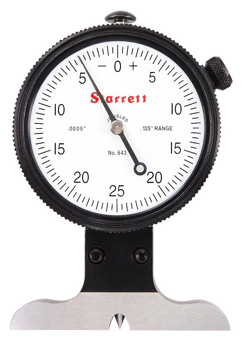 Max 53% OFF Starrett 643J 643 Series Dial Indicator Gauge San Francisco Mall 0-0.1 Type Depth