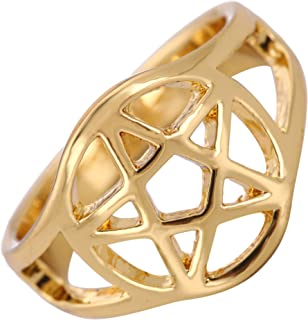 gold pentacle ring
