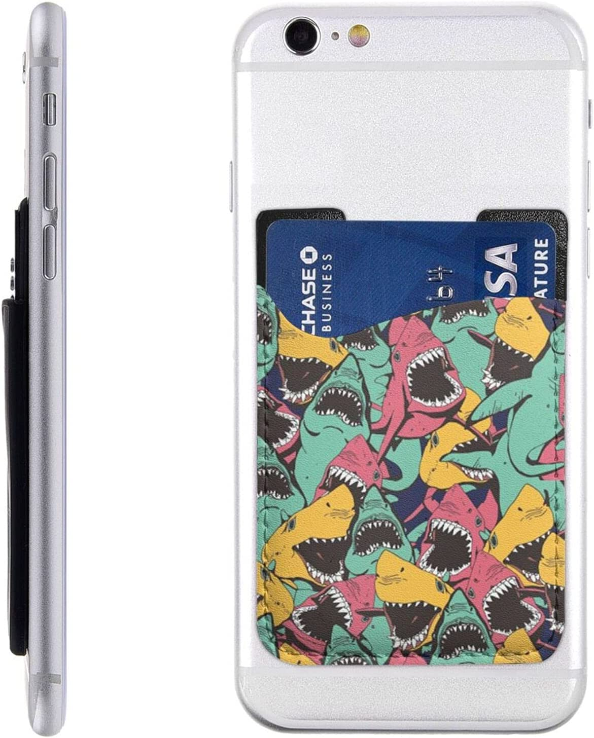 Fish Pattern Fashionable depot Phone Card Holder Cell On S Stick Wallet