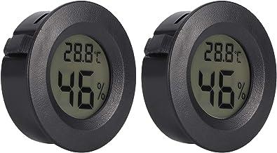 FOTABPYTI Digitale Thermometer-Hygrometer, Mini-vochtigheidstemperatuurmeter, ABS draagbaar draagbaar reptielenincubator voor thuis