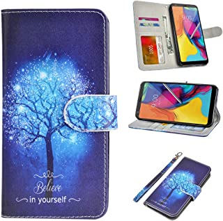 UrSpeedtekLive LG Stylo 5 Case, LG Stylo 5 Plus Case, Premium PU Leather Wristlet Flip Wallet Case Cover with Card Slots & Stand for LG Stylo 5 - Believe in Yourself
