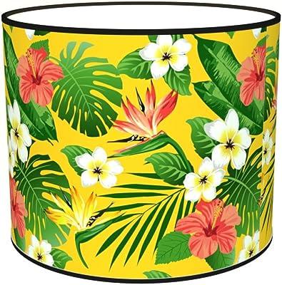 Abat-jours 7111301060952 Imprimé Illona Lampe de Chevet, Tissus/PVC, Multicolore