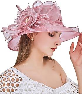 Women's Kentucky Derby Hat Organza Dress Sun Hats Church Flowers