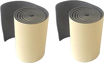 FLWP20020Bx2 Protectoras paragolpes de pared parking, fabricado en espuma autoadhesivo, para espacios de estacionamiento, garajes y almacenes, dimensiones de 200x20x0,5 cm, negro (2 piezas)