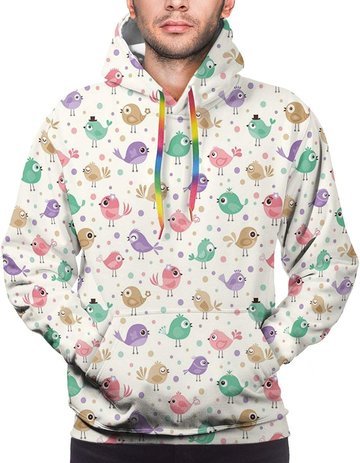 Men's Hoodies Sweatshirts,Colorful Dots with Halftone Effect Illusion of The Gradient Dynamic Fantasy Artistic