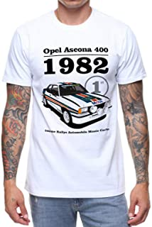 Yonerii Opel ASCONA 1982 T Shirt Classic Car Rally Track Birthday Present Gift 1980'S