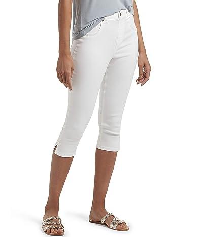 HUE Ultra Soft Denim High-Waist Short Capris (White) Women