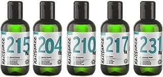 Naissance Top 5 100ml BIO zertifizierte Trägeröle Einsteigerset - 5 x 100ml Bio-Basisöle für DIY Beauty und Hautpflege - mit Mandelöl, Aprikosenkernöl, Rizinusöl, Avocadoöl, Traubenkernöl