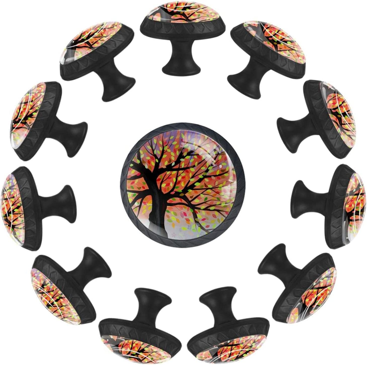 Las Vegas Mall Cabinet Knobs Colorful Our shop most popular Tree Drawer Glass Round Crystal Dec
