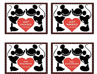 LARGE Personalized Disney Anniversary Door Magnet || Just Married Magnet || Just Engaged Disney Cruise Magnet || Our Honeymoon Stateroom Door Magnet || FREE Shipping