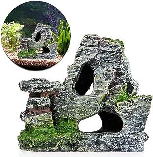 Pietra decorativa grigio scuro per acquario roccia CASA GIARDINO terrario pietrisco