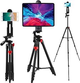 Teefeet - Tripié para tablet (135 cm), trípode de aluminio, para iPhone, iPad Pro, cámara, teléfono celular, soporte para ...