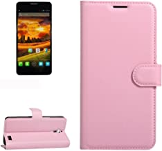 Mobile Phone Cases & Covers, For Alcatel One Touch Idol X / 6032 / OT-6032 Litchi Texture Horizontal Flip Leather Case with Holder & Card Slots & Wallet (Color : Pink)
