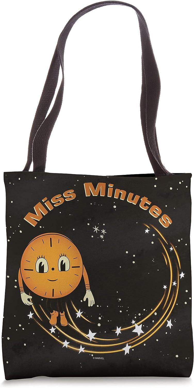 Marvel Loki Miss Minutes Clock Stardust Black Tote Bag