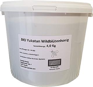 Bio Yukatan Wildblütenhonig - 4 kg Eimer - Herkunft: Mexiko - 100% reiner Honig, Premiumqualität - sehr aromatisch - Mayahonig