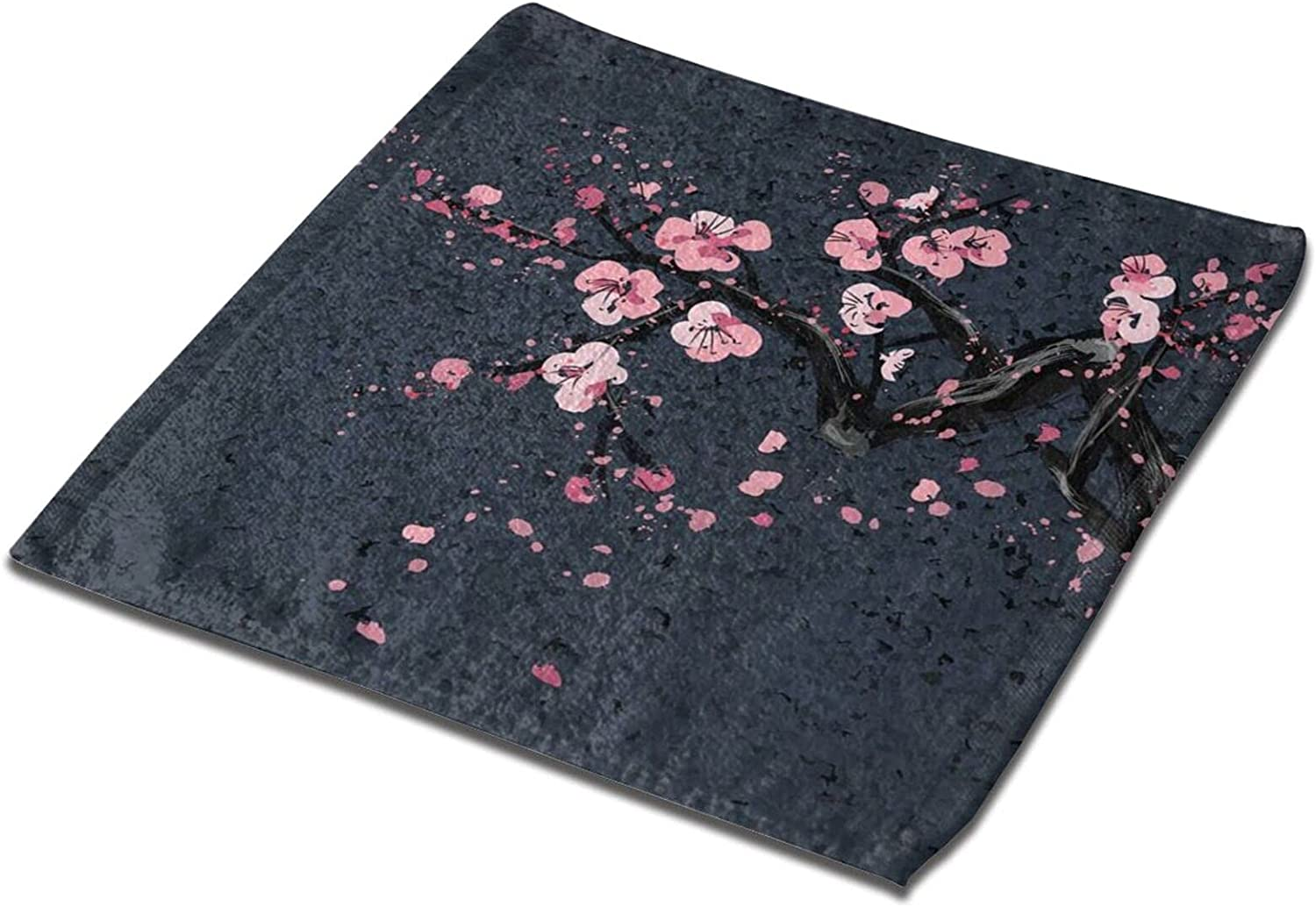 Cherry Blossom Sale special price On Black Printed Hand Albuquerque Mall Super Towel Bath Ab Towels
