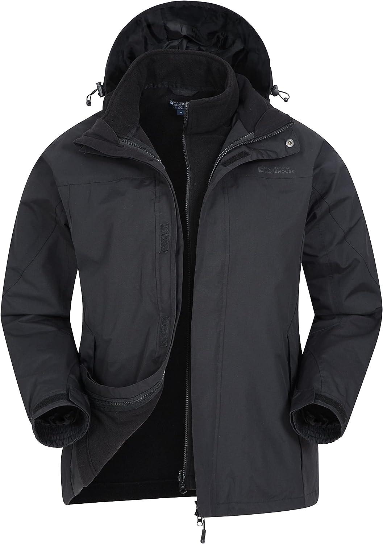 Mountain Warehouse Thunderstorm Mens 3 in 1 Waterproof Winter Jacket