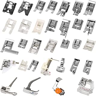 Eagles Presser walking foot set for saw machine,32 in one for Singer Janome White Low Shank Brother etc.