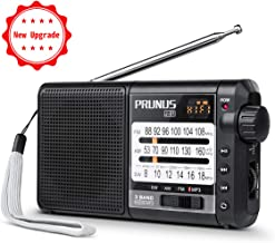 [Upgraded] Battery Operated Portable Radio AM FM Shortwave DSP Radio with Best Reception, Supports Micro-SD Card/TF Card, by PRUNUS