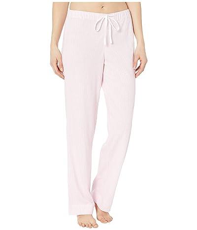 LAUREN Ralph Lauren Cotton Polyester Jersey Separate Long Pants (Pink Stripe) Women