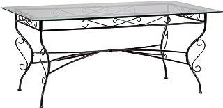 Weber Industries Set DE Table Ibiza RECTANGULAIRE 175 x 75 CM Noir, Acier