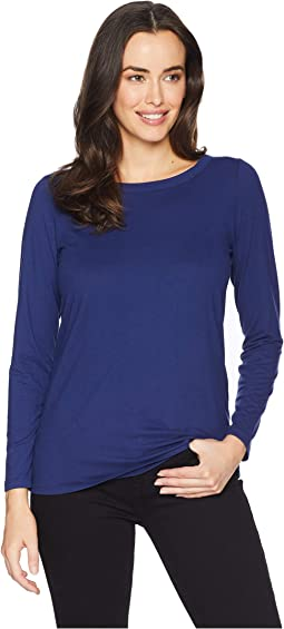 Long Sleeve High-Low Bow Back Tee