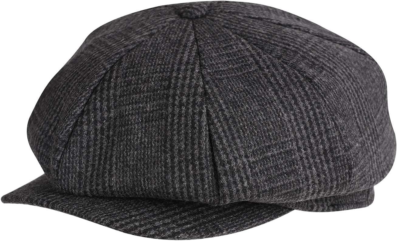 Holiberty Men's Max 81% OFF Boy Newsboy Cap Hat Gatsby Wool Fl Luxury Blend