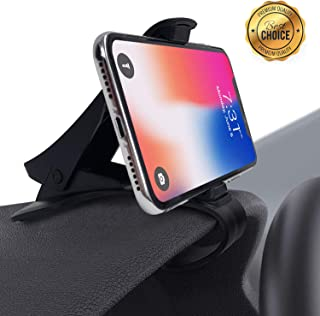 Car Phone Mount, Dashboard Cell Phone Holder, Phone Clip for Car, Phone Clip Holder, Clip on Dash Phone Holder for Car Compatible with iPhone XS/XS MAX/XR/X/8/8Plus/7/7Plus/6s Galaxy S10/S9/S8/S7/Note