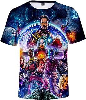 HUASON Avengers Endgame Film Superhero Impresión 3D Camiseta Quantum T-Shirt