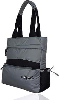 WILDMODA Women's Shoulder Bag (WM-OLD-2_Grey & Black)