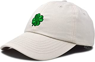 f8fed526f39 DALIX Four Leaf Clover Hat Baseball Cap St. Patrick s Day Cotton Caps