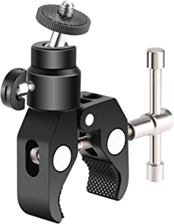 Neewer Metal Adjustable Camera Large Super Clamp and Ball Head Hot Shoe Mount Adapter with 1/4 inch Screw for DSLR Film Mo...