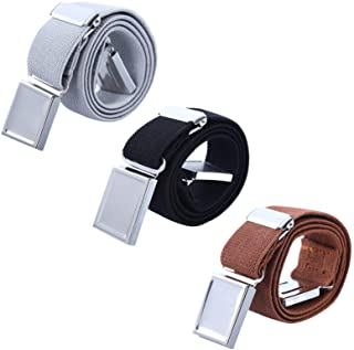 AWAYTR Kids Magnetic Belts for Boys - 3 Pcs Adjustable Elastic Toddler Belt